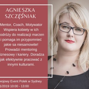 Aga Szczesniak event for women in Sydney AgaNOW